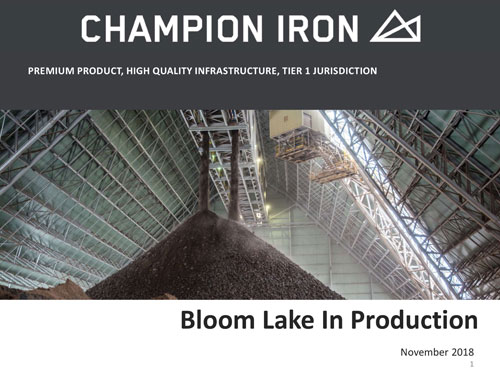 Champion Iron Investor Presentation