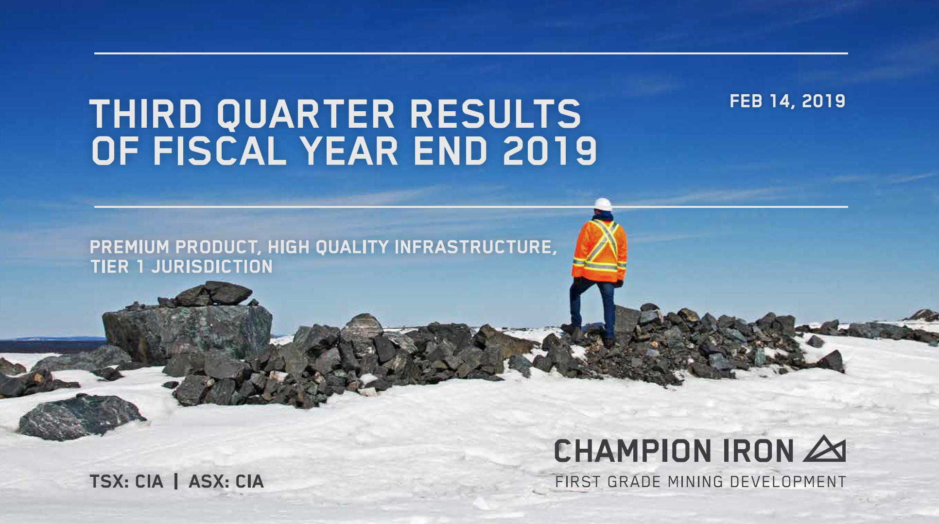 Third quarter results of fiscal year end 2019