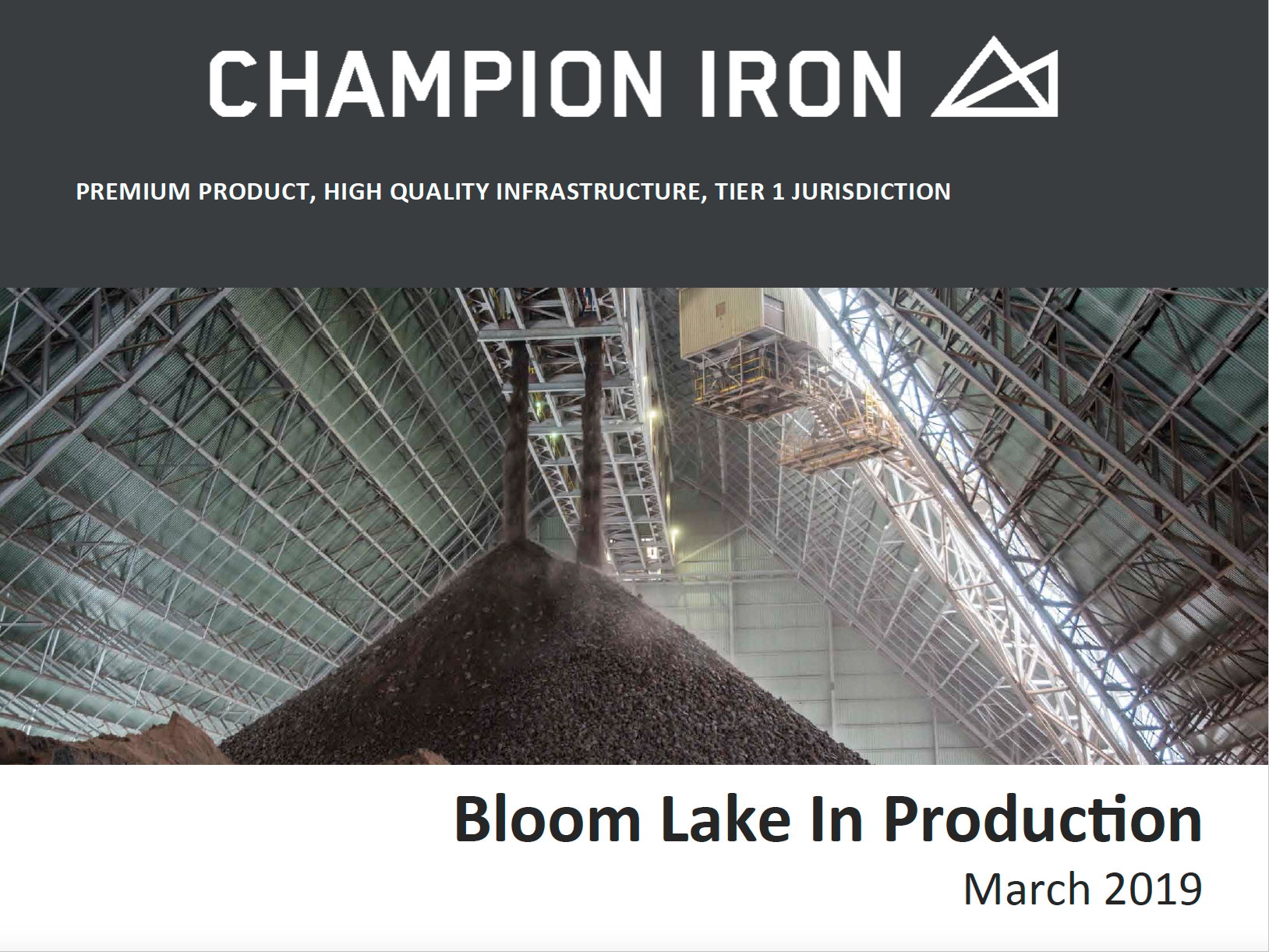 Bloom Lake in production, march 2019